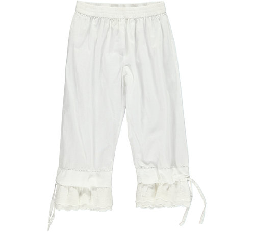 2397A - Pants w. lace – White