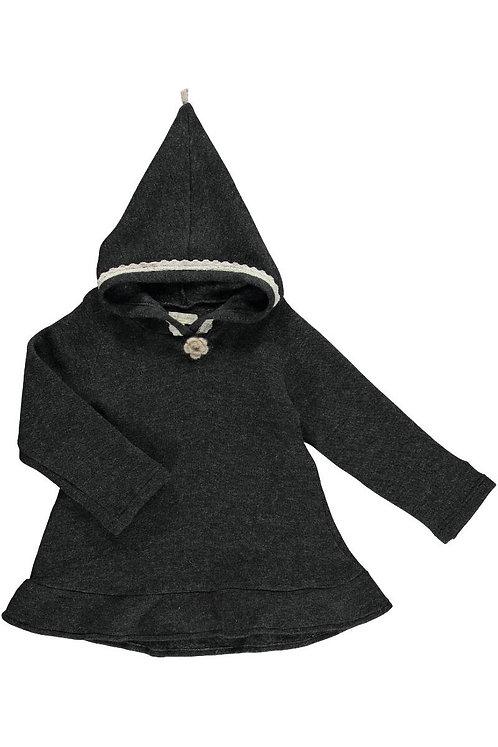2485A - Wool boucle tunica - grey