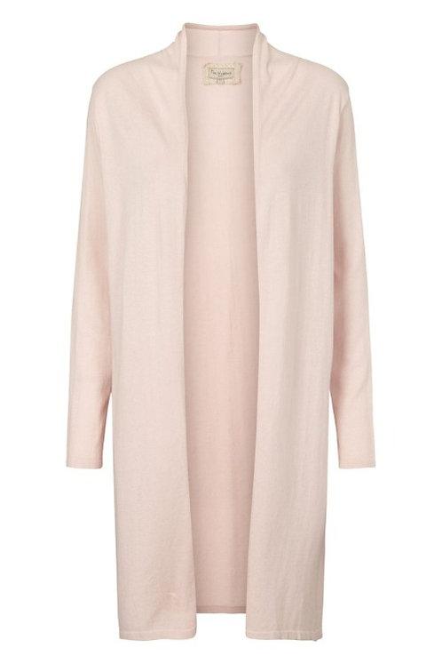 3745L - Cotton knit coat - Plum kitten