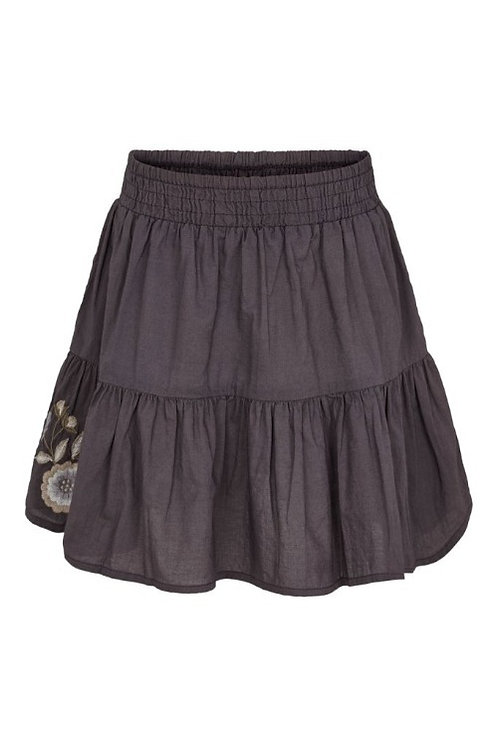 3749L - Cotton skirt - Plum kitten