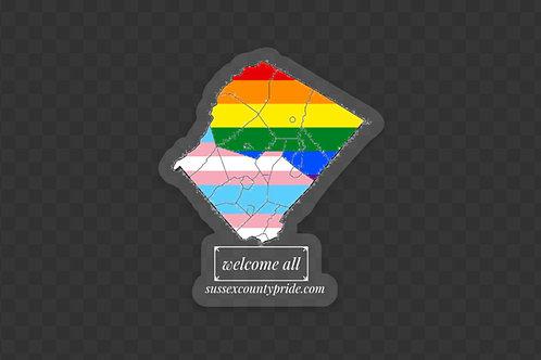 Welcome all LGBTQ+ Sticker