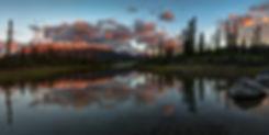 The De Smet ranges bathes in vibrant morning light.
