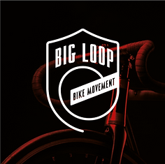 big loop bikes logo on bike background.p