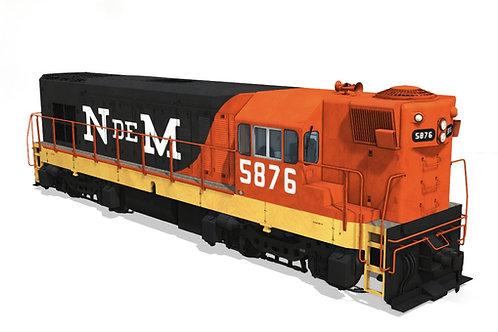 GM/EMD - G12 5876 Nacionales de México