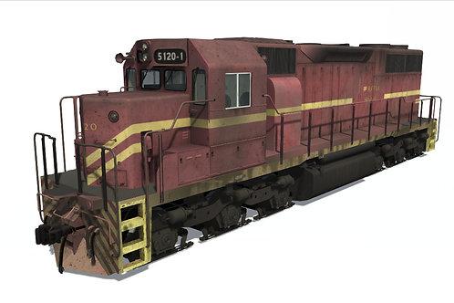 GM/EMD - SD38M RFFSA (5120-1 Unit)