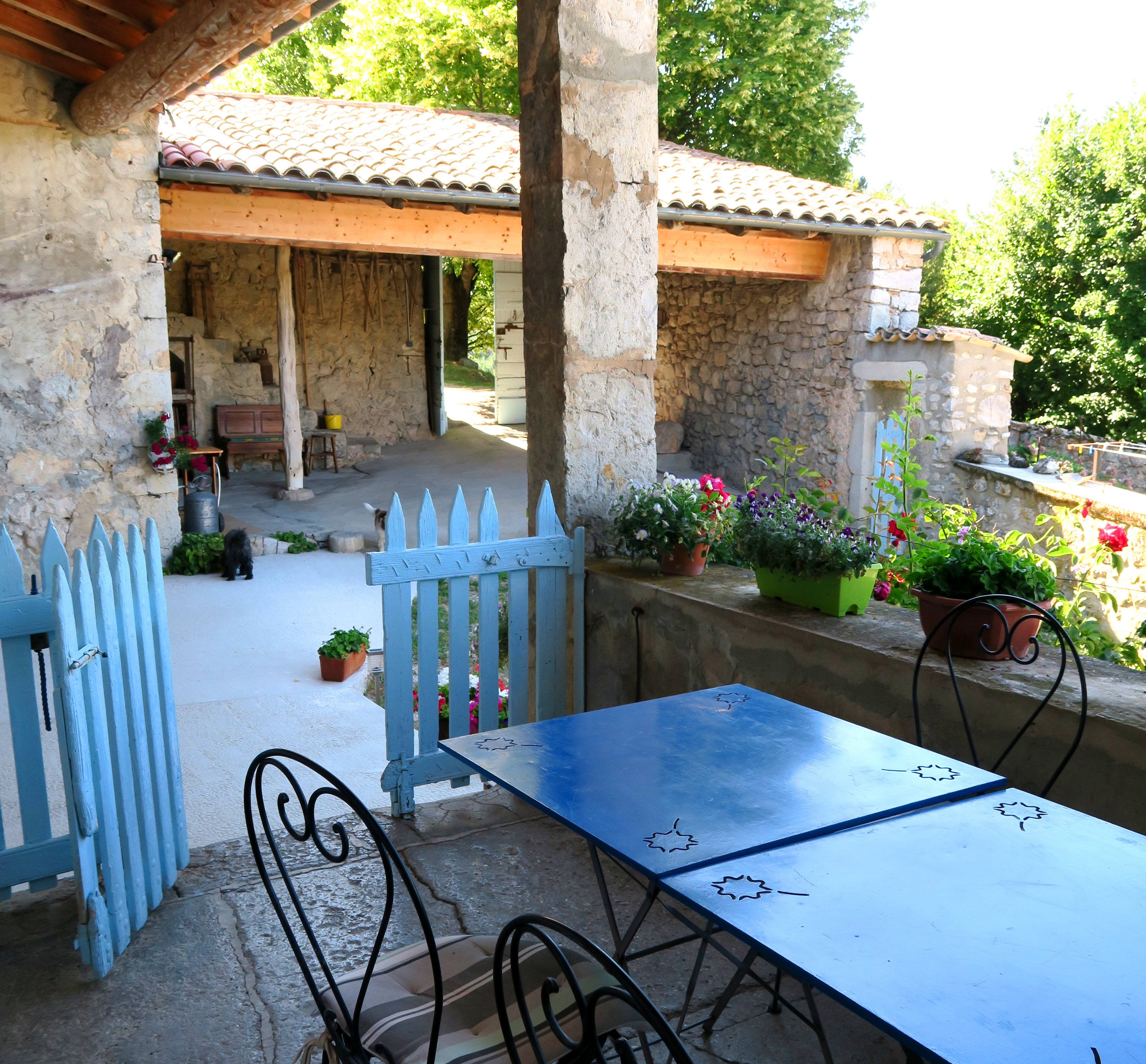 Gite Drôme Rimon • Terrasse
