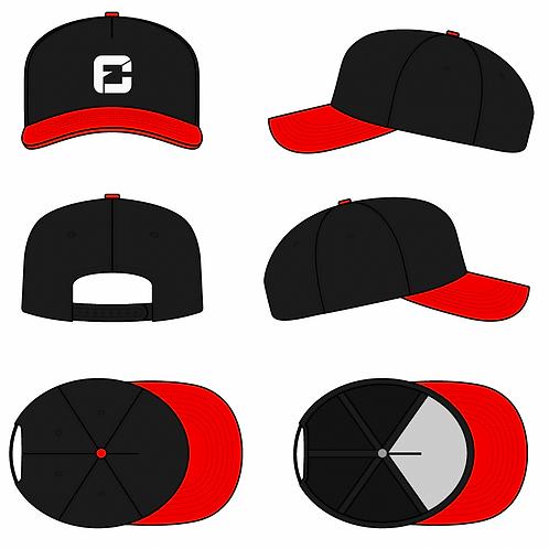 FC Five panel curved snapback black