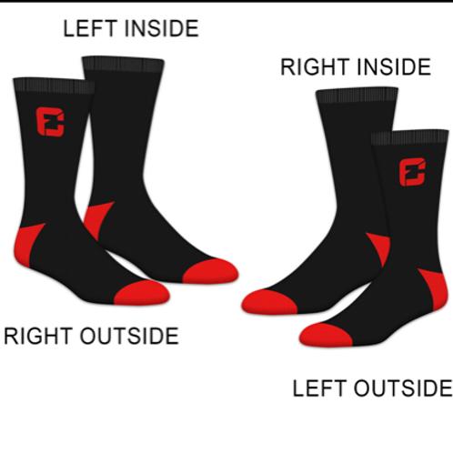 FC Socks (Black/Red)