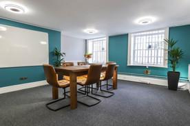 Blue meeting room