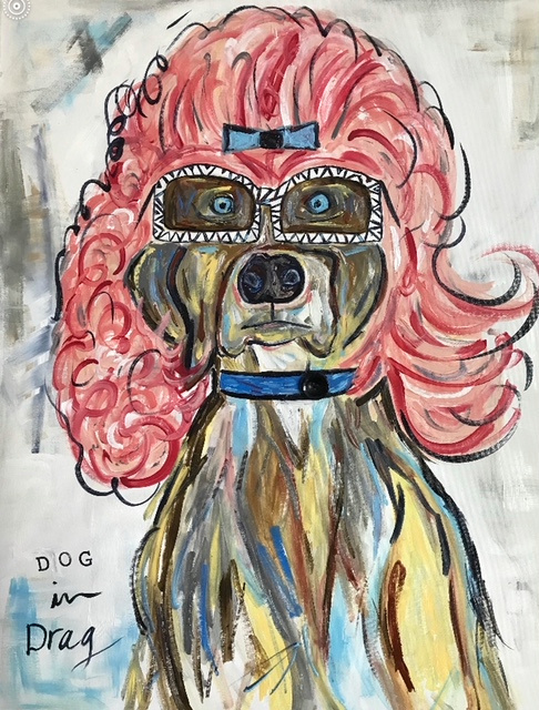 Dog in Drag