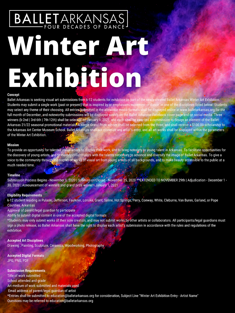 Ballet Arkansas Winter Art Exhibition Dr