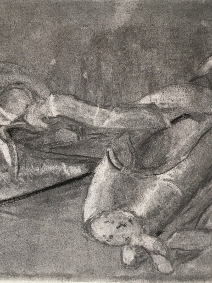 Charcoal Pointe Shoes by Dana McCraw