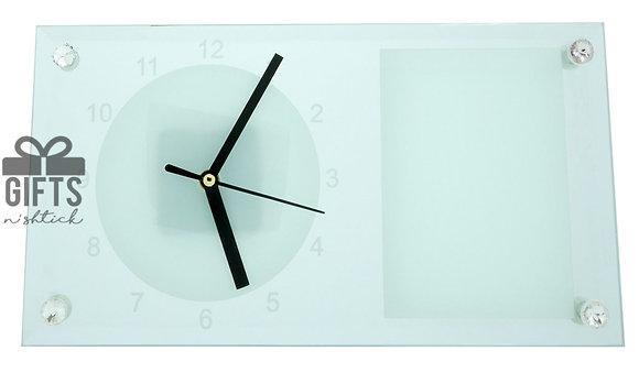שעון שולחני כולל מסגרת להדפסת תמונה
