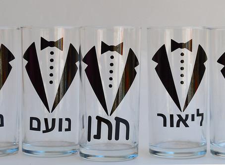 כוסות טול דרינק לחתן וחבריו