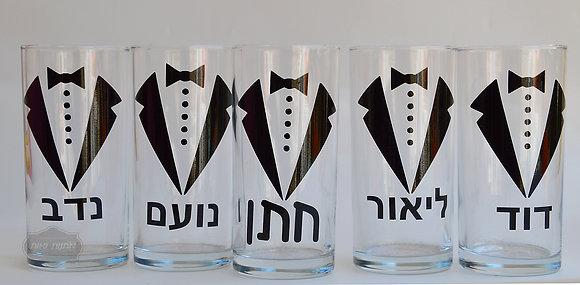 סט כוסות לחתן וחברים