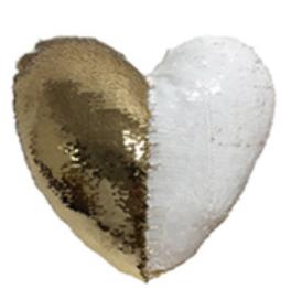 כרית בצורת לב עם נצנצים