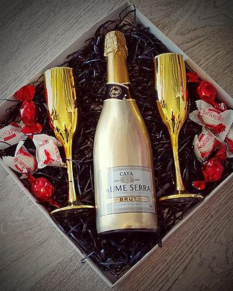 מארז שי שמפניה וכוסות
