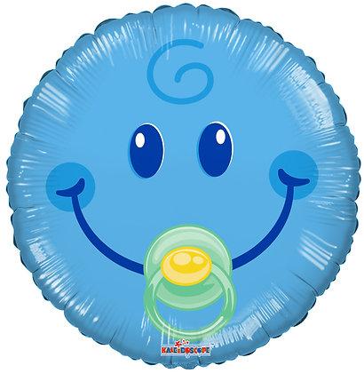 בלון בייבי תינוק סמיילי כחול