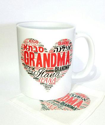 ספל מתנה לסבתא