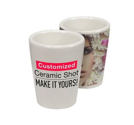 כוס שוט צ'ייסר קרמיקההדפסה אישית