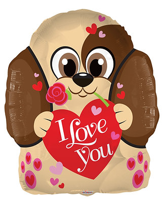 בלון כלבלב I LOVE YOU -PUPPY LOVE