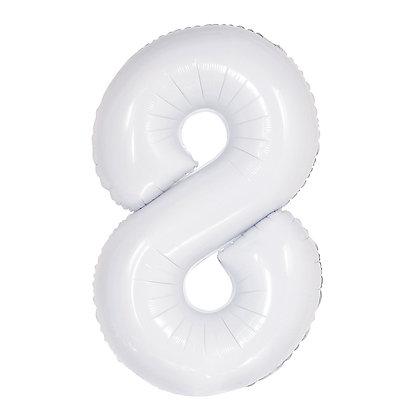 בלון מספר ספרה ענק לבן
