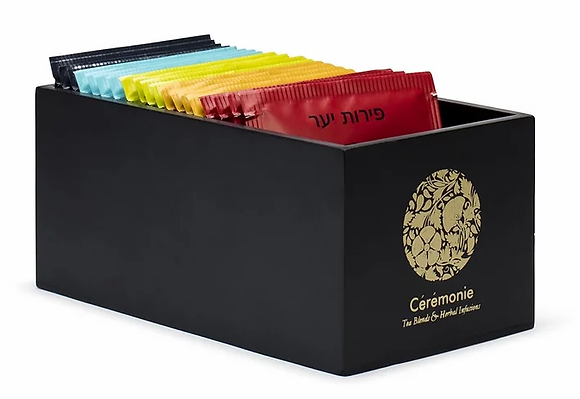 מארז מתנה תה סרמוני קופסת עץ