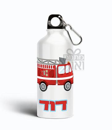 בקבוק שתייה אקולוגי עם שם - דגם מכבי אש
