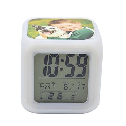 שעון מעורר דיגיטל עיצוב אישי עם 3 תמונות