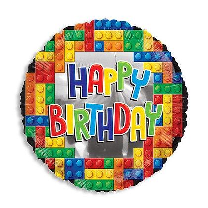 בלון מיילר יום הולדת שמח לגו