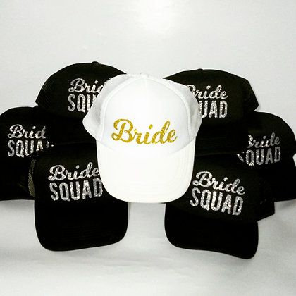 סט כובעים לכלה ו-בריידסמיידס - מסיבת רווקות