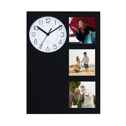 שעון קיר עם מסגרת לתמונות
