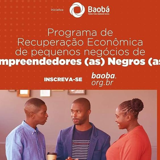 Programa de Recuperação Econômica de pequenos Negócios de Empreendedores Negros