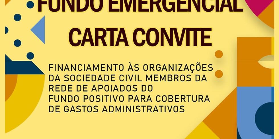 Recurso emergencial no contexto da pandemia da COVID-19 para rede de organizações já apoiadas pelo Fundo Positivo