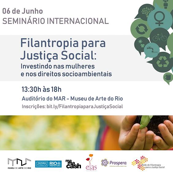 Seminário Internacional discute investimento social em mulheres e direitos socioambientais