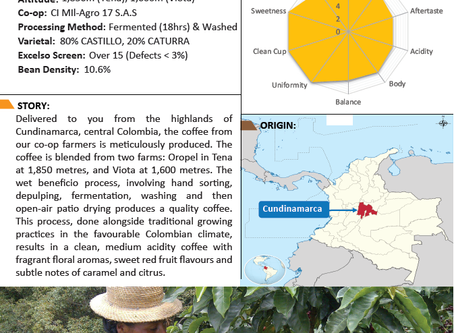 The profile of our new coffee