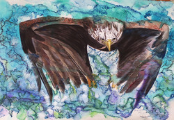 native eagle painting