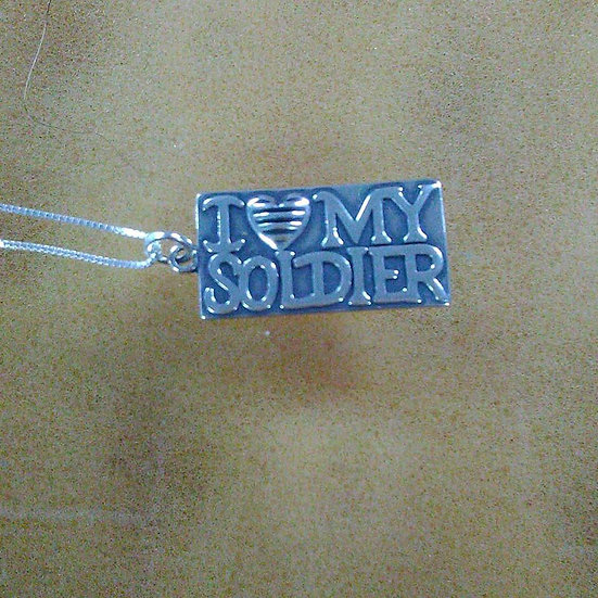 I Love My Soldier Pendant