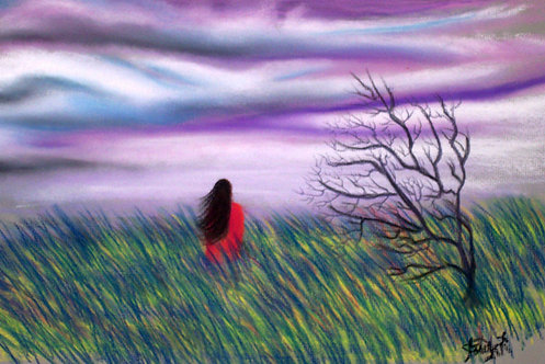 Purple Sky - Pastelle