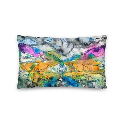TURQ. DRAGONFLY - Basic Pillow