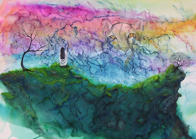 Cougar Journey - Watercolor