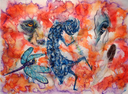 watercolor kokopelli
