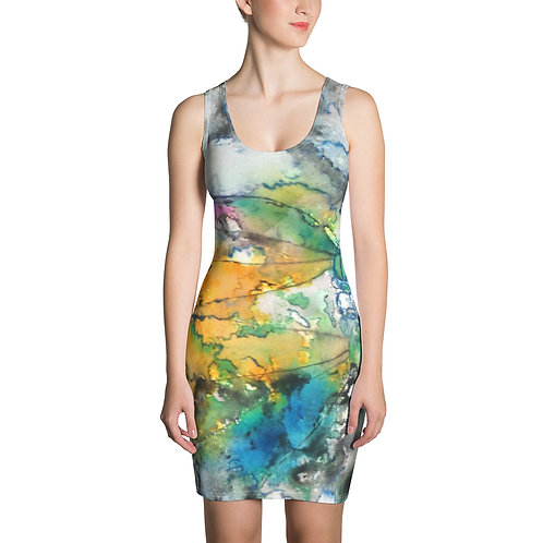 TURQ. DRAGONFLY - Sublimation Cut & Sew Dress