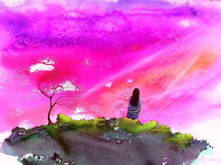 God's Language - Watercolor