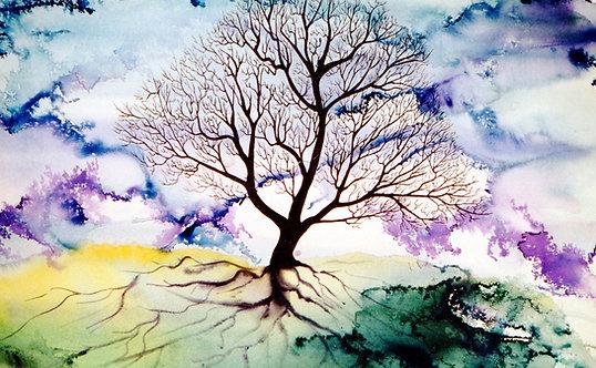Blue Spirit Tree - Framed