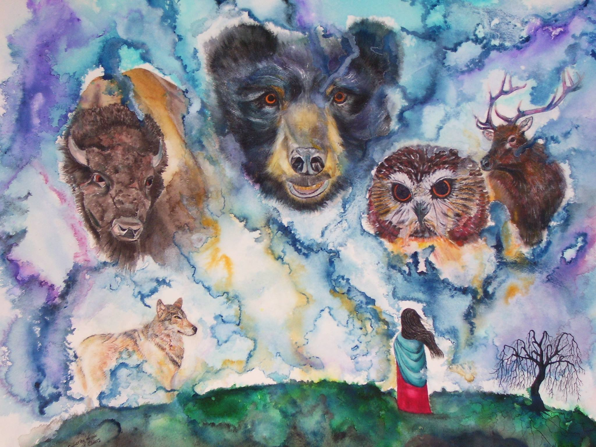 animal watercolor
