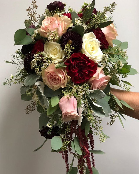 Beautiful cascade bridal bouquet from Ta