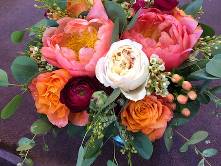 Summer Bridal Bouquet Composition