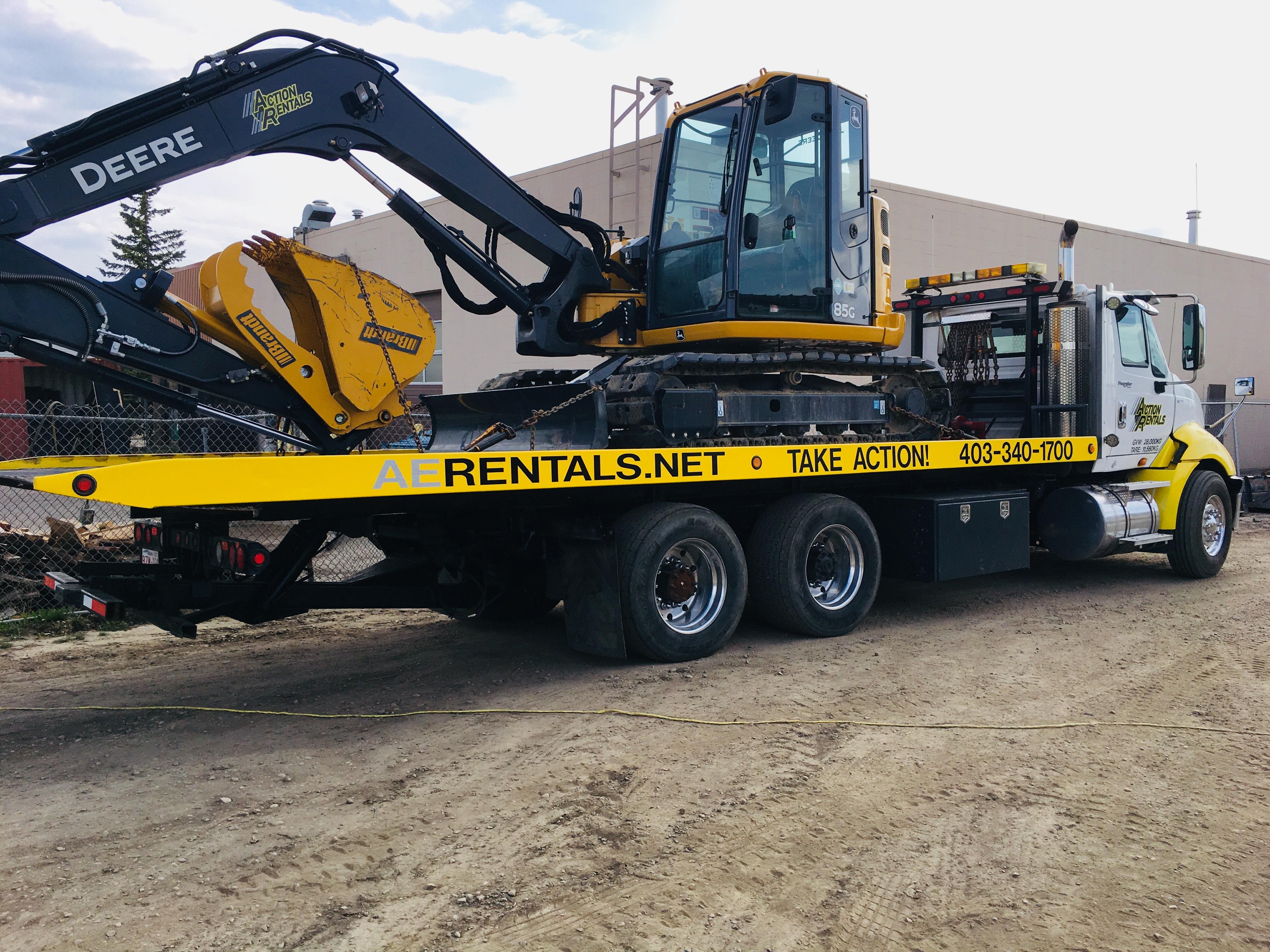 Action Rentals Excavator