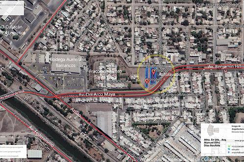 Culiacán, Sinaloa. Polígono de barrancos (Los Arcos), 2 lotes comerciales